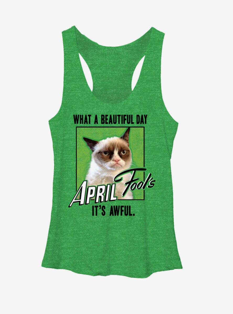 Grumpy Cat What a Beautiful Day Womens Tank