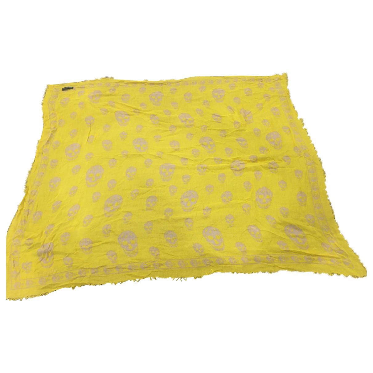 Alexander Mcqueen \N Schal in  Gelb Baumwolle
