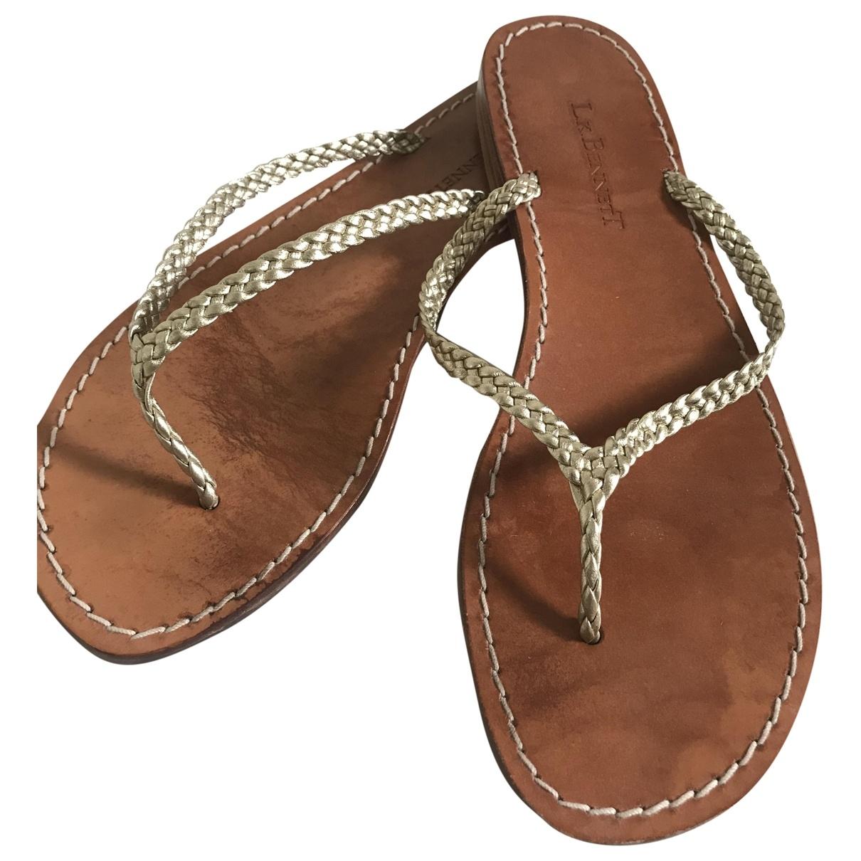 Lk Bennett - Sandales   pour femme en cuir - dore