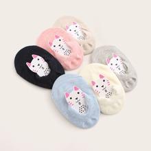 6 Paare Baby einfarbige Socken
