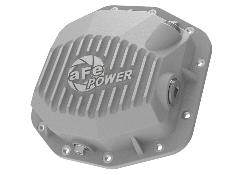 aFe POWER 46-71000A Street Series Rear Differential Cover Raw w/ Machined Fins Jeep Wrangler JL V6 3.6L 2018
