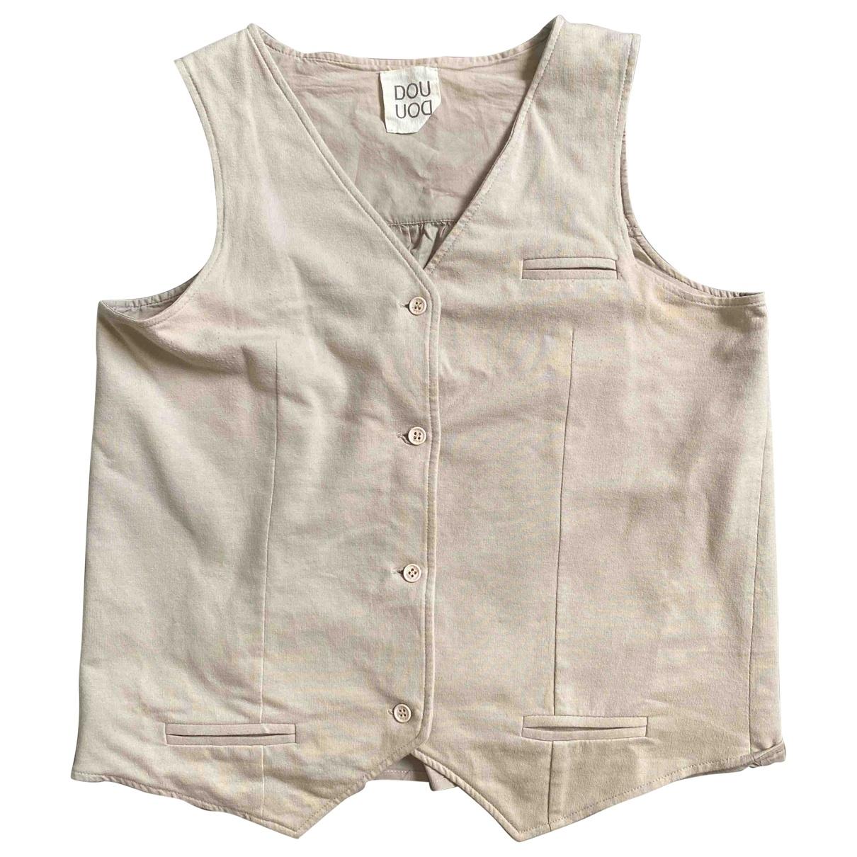 Douuod - Top   pour femme en coton - beige
