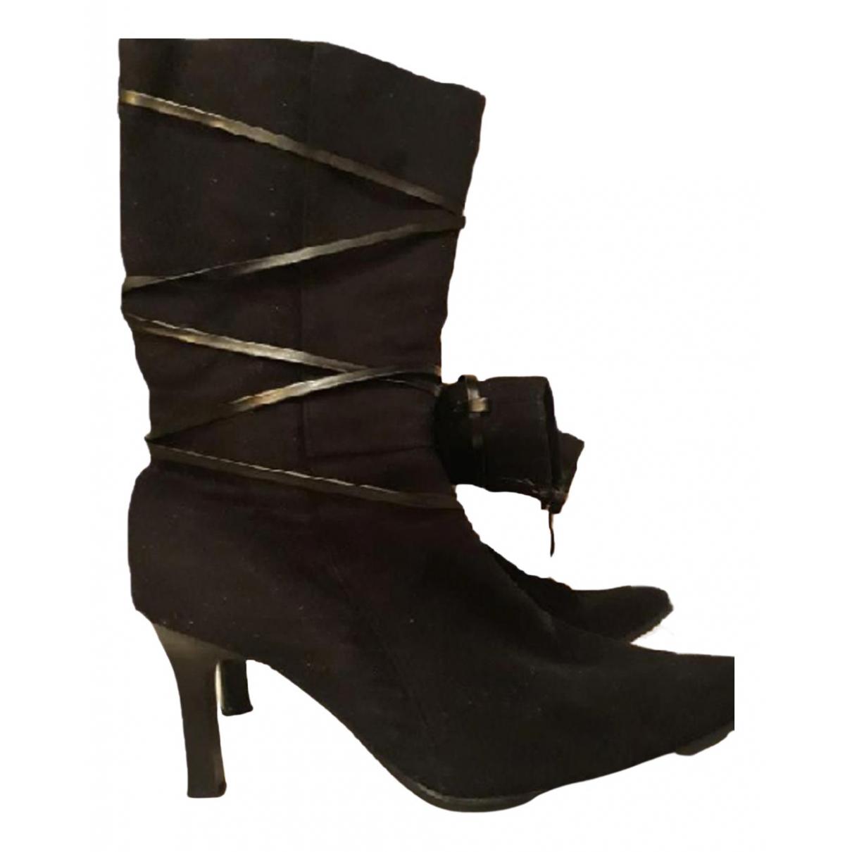 Non Signé / Unsigned N Black Faux fur Boots for Women 36 EU