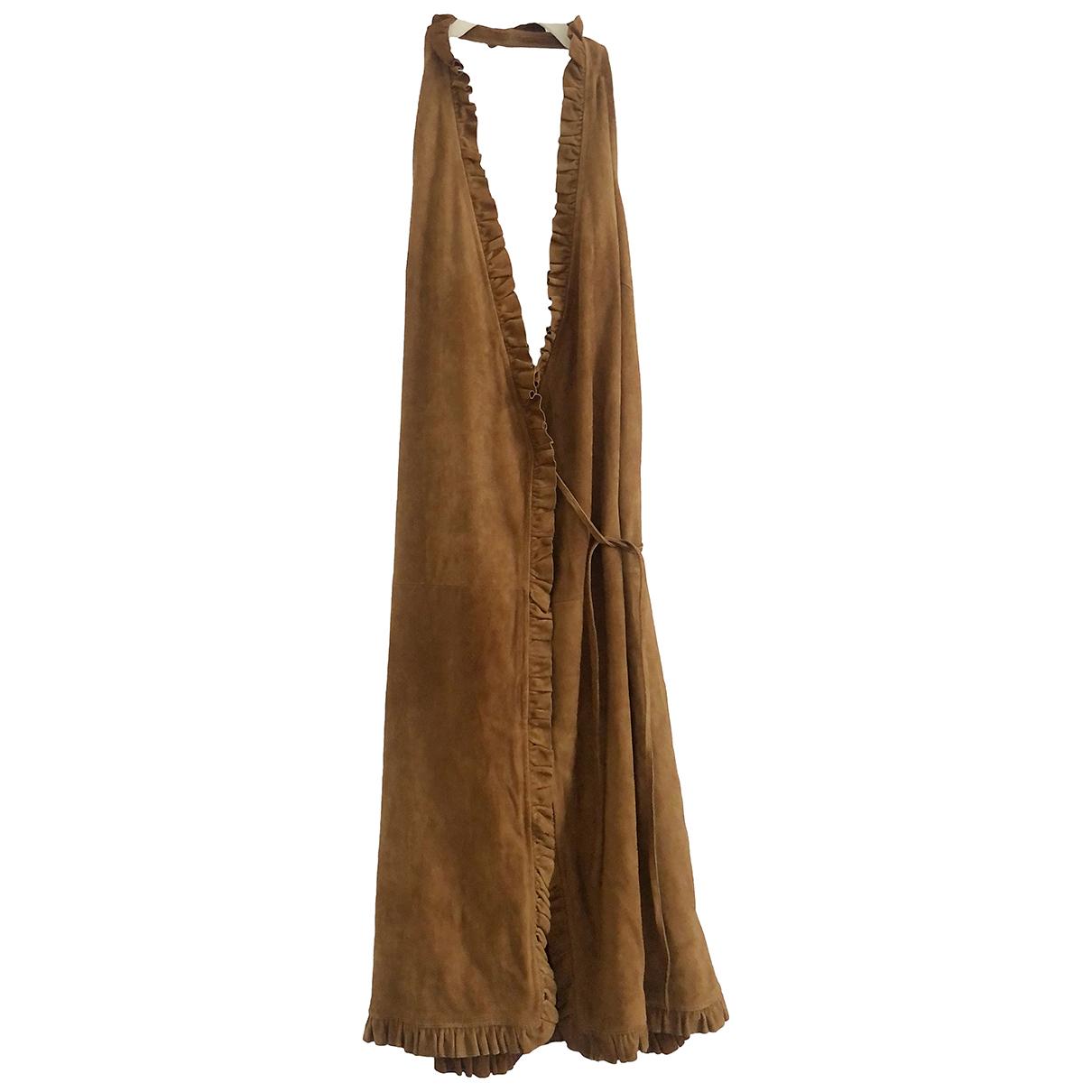 Celine \N Kleid in  Braun Veloursleder