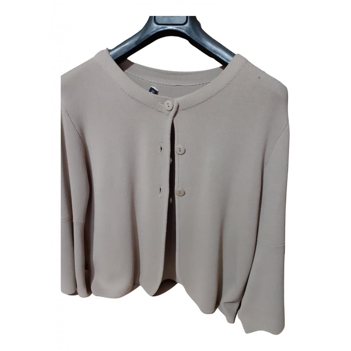 Non Signé / Unsigned N Beige Cotton jacket for Women 44 IT