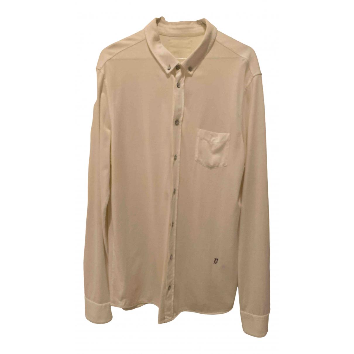 Dondup N White Cotton Shirts for Men L International