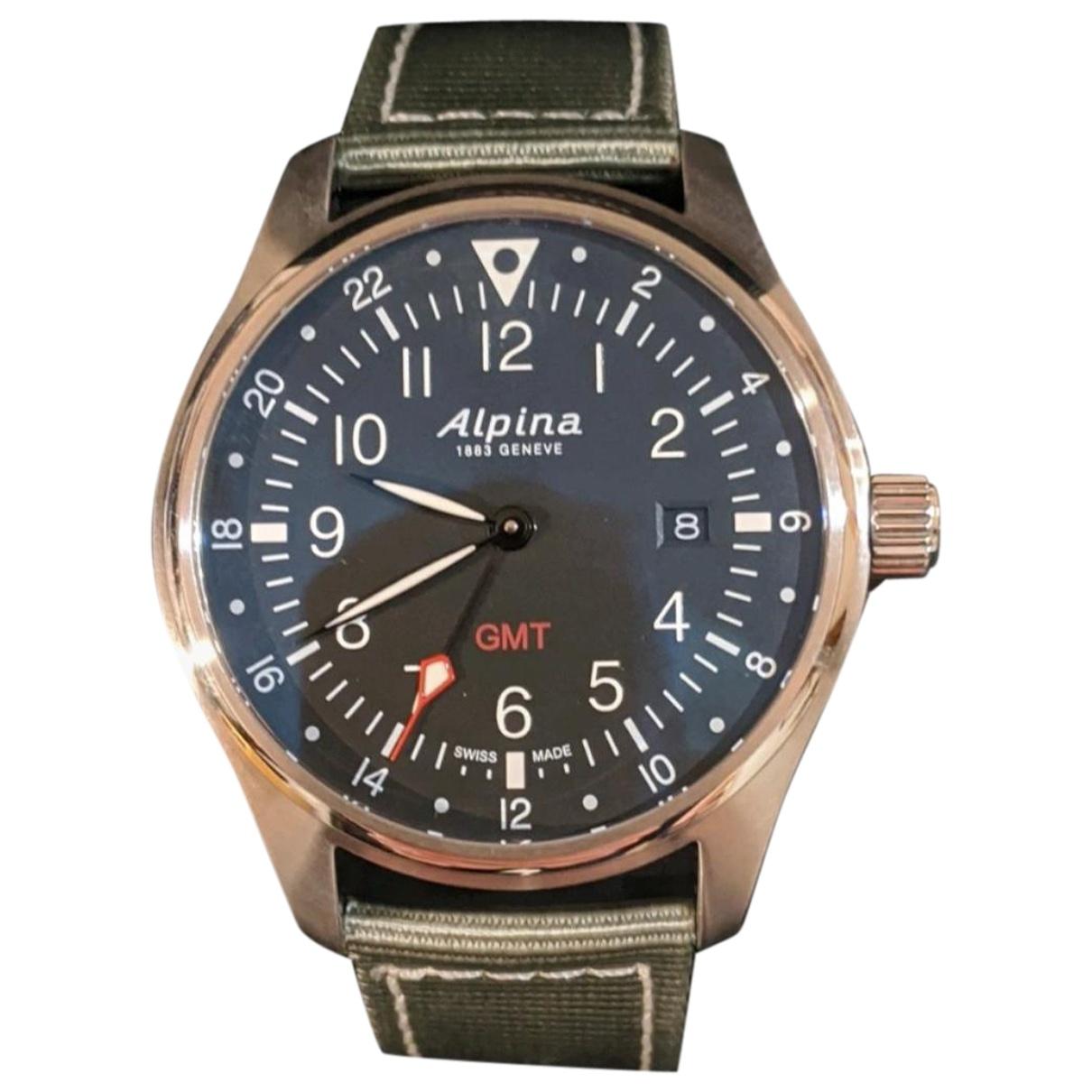 Alpina Startimer Pilot Uhr in  Silber Stahl