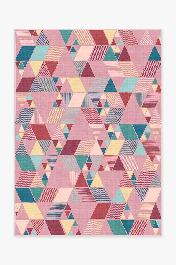 Washable Rug Cover & Pad | Joojee Pink Rug | Stain-Resistant | Ruggable | 5'x7'