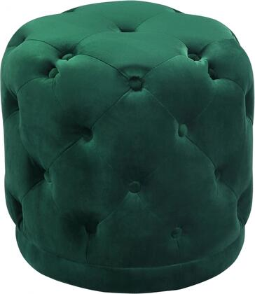 Harper Collection 136Green 18 Ottoman with Contemporary Design  Velvet Upholstery and Deep Button Tufting in