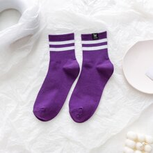 1pair Stripe Socks