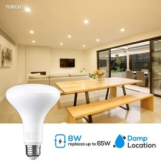 BR30 LED Bulb, 8W (65W Equivalent), Dimmable, E26 Medium Base (Warm White - 20PACK)