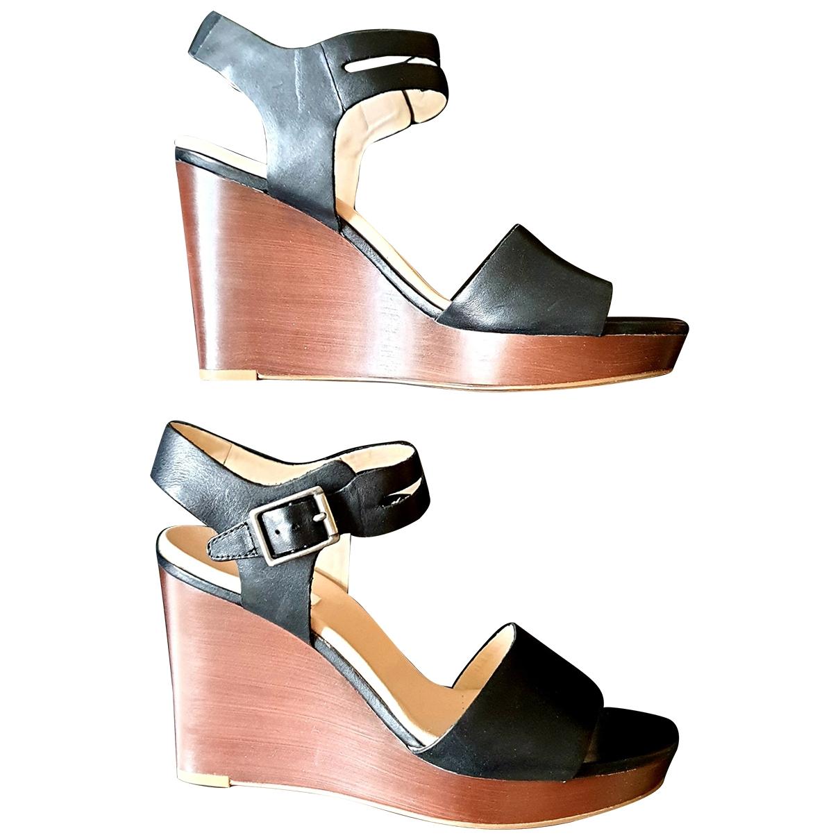 Clarks - Sandales   pour femme en cuir - noir