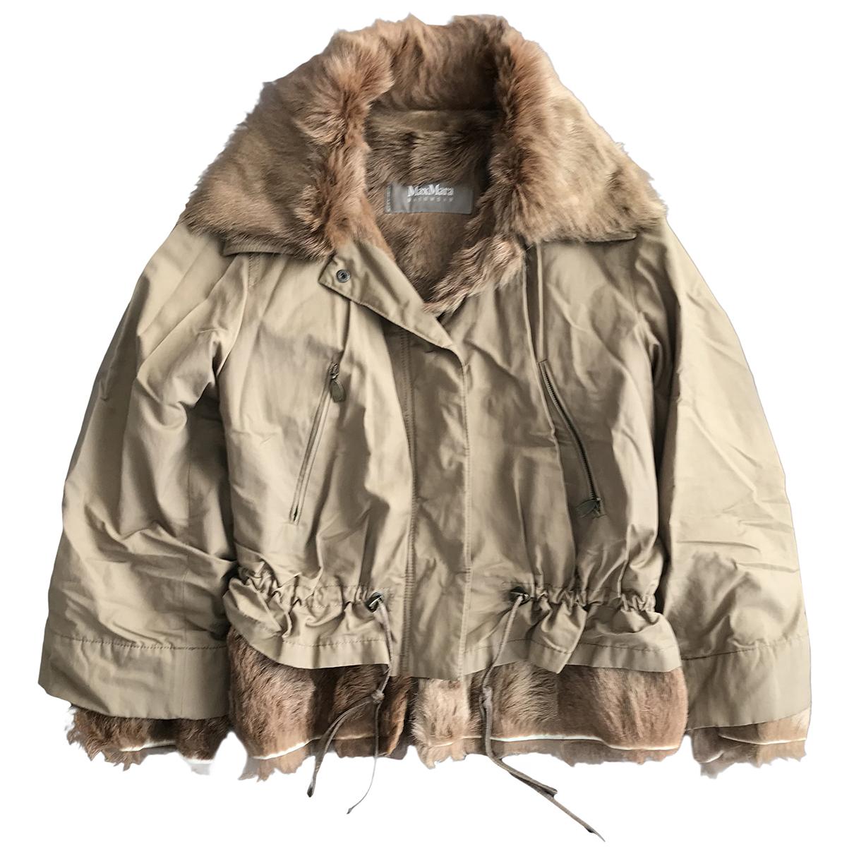 Max Mara - Manteau   pour femme en fourrure - beige