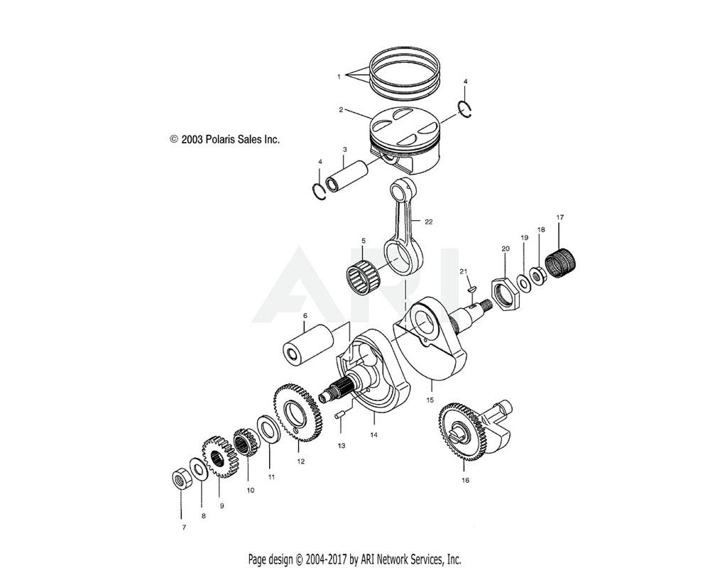 Polaris OEM 3088142 Shaft, Balancer