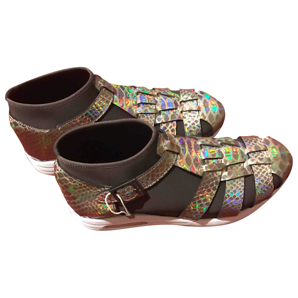 Susana Traca \N Sneakers in  Khaki Polyester
