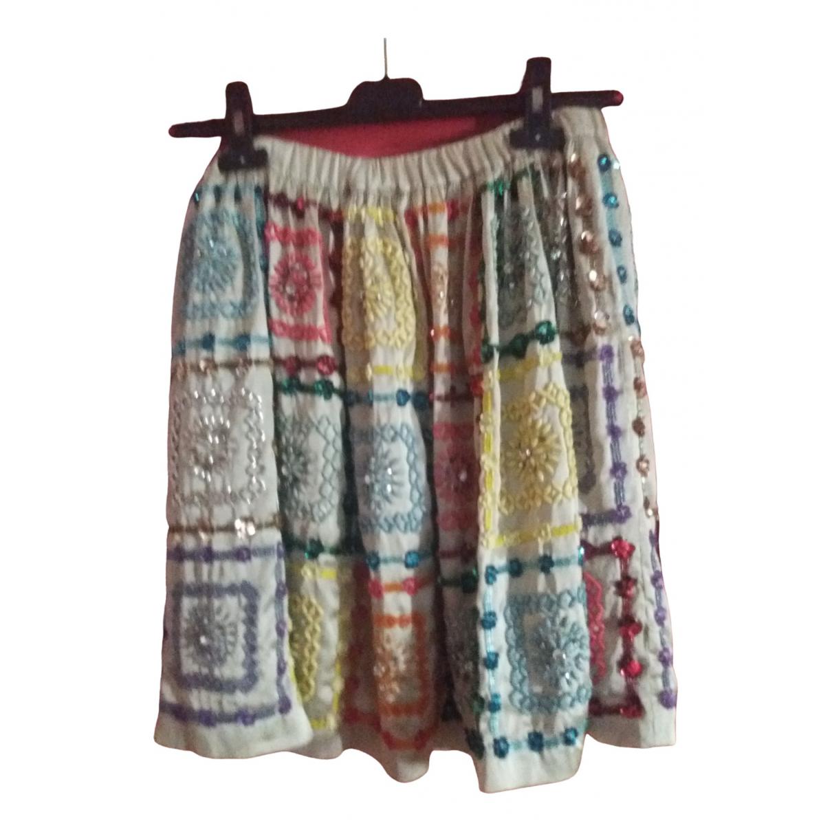 Manoush - Jupe   pour femme en soie - multicolore