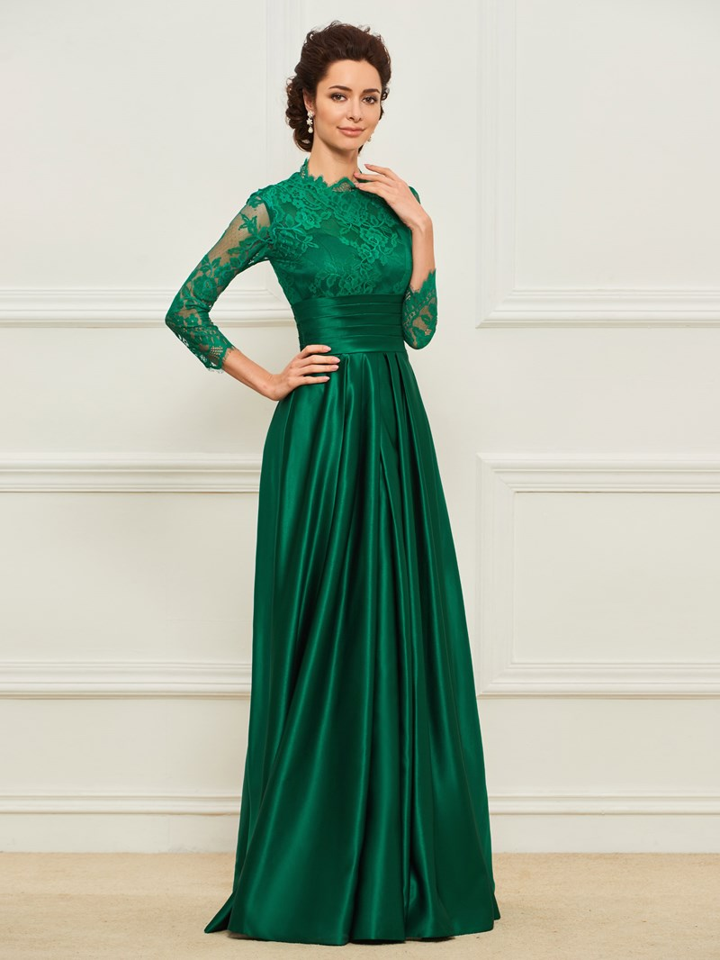 Ericdress Lace 3/4 Length Sleeves Mother of the Bride Dress