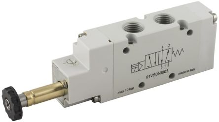 RS PRO 3/2 Normally Closed Pneumatic Control Valve Solenoid G 1/2