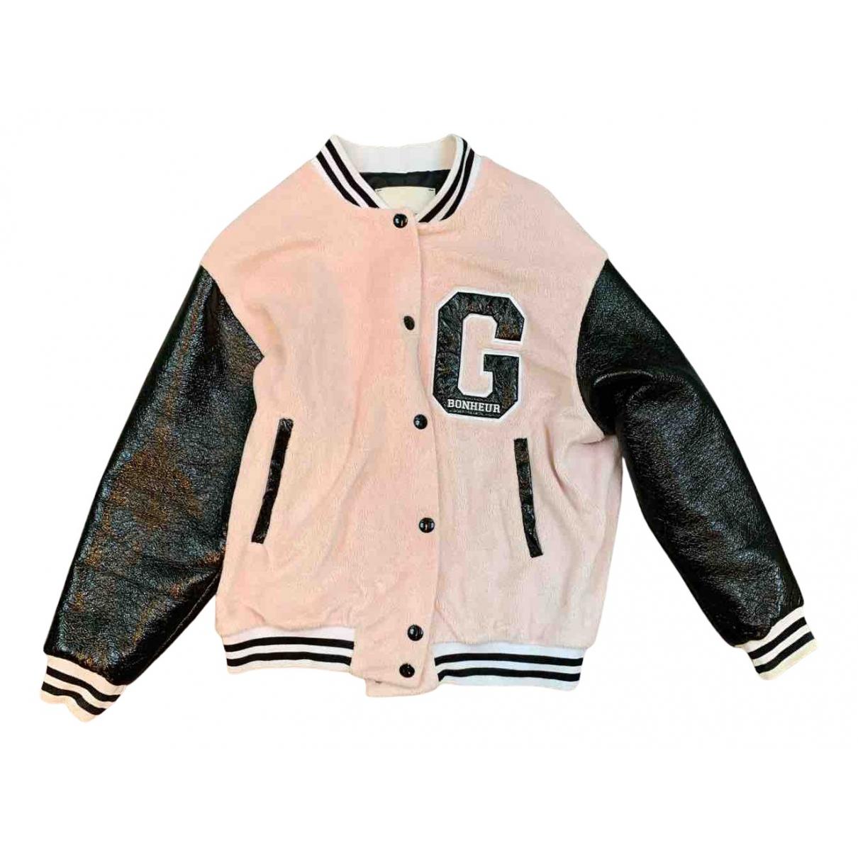 Gaelle Bonheur N Pink Faux fur Leather jacket for Women 40 IT