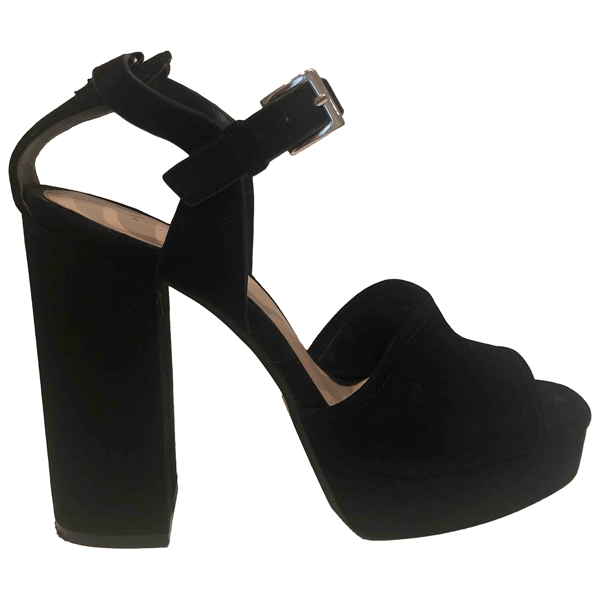Zara \N Black Suede Heels for Women 37 EU