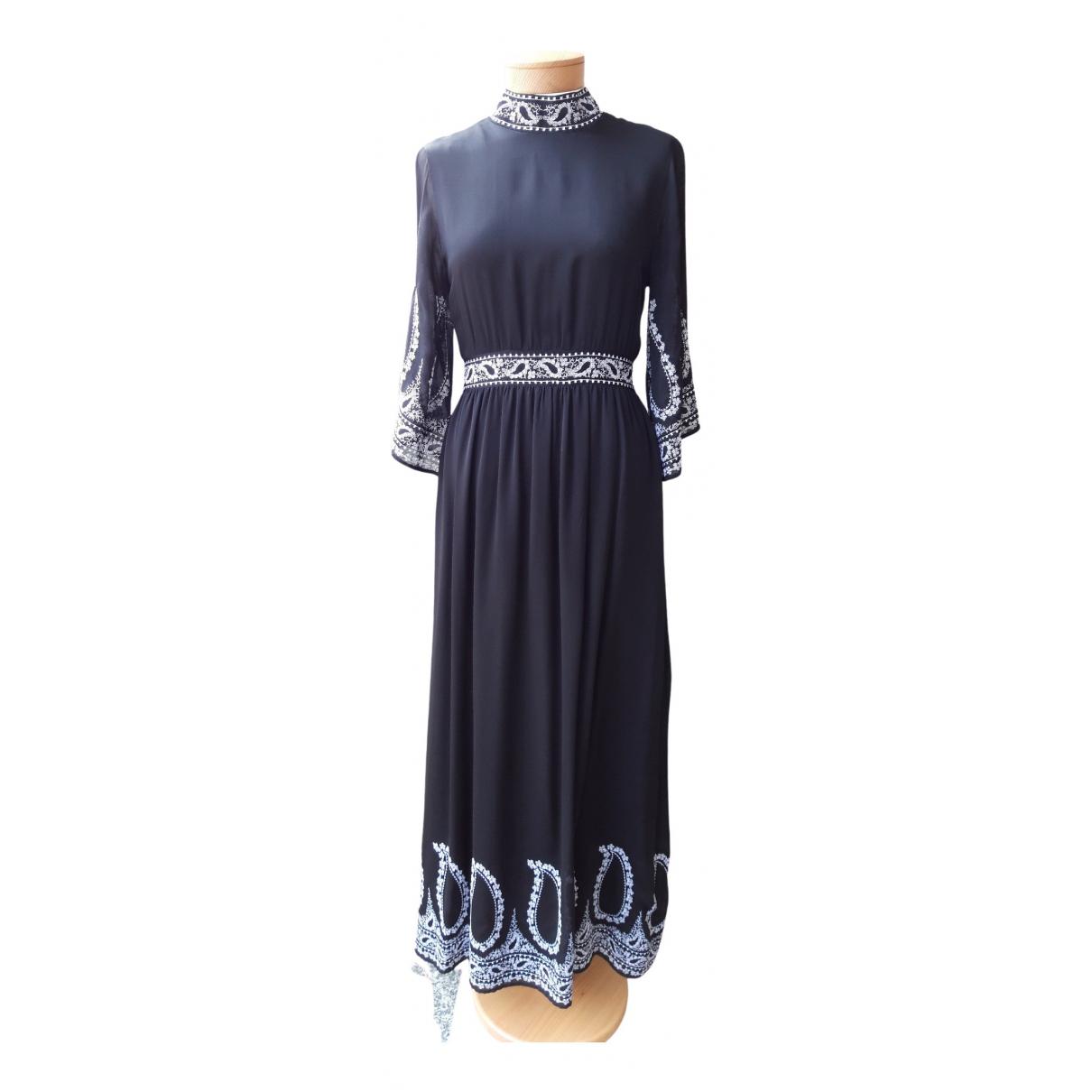 Vilshenko \N Kleid in  Schwarz Seide