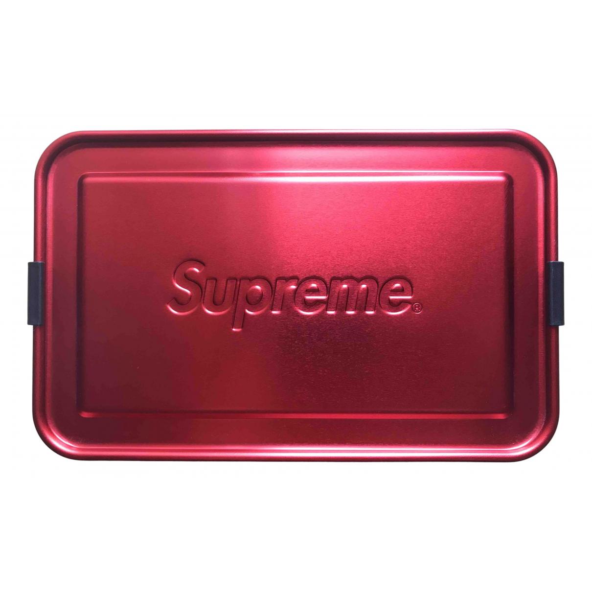 Supreme - Objets & Deco   pour lifestyle en metal - rouge