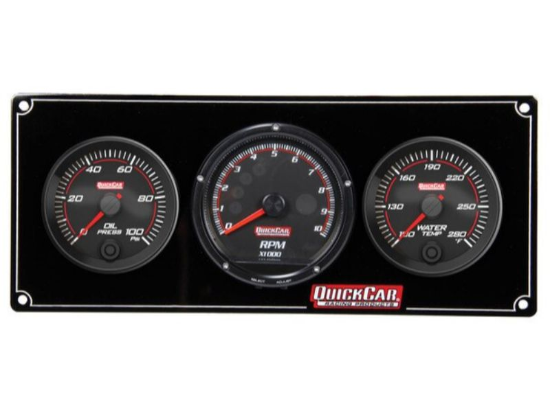 Quickcar Racing Products Redline 2-1 Gauge Panel OP/WT with Recall Tach