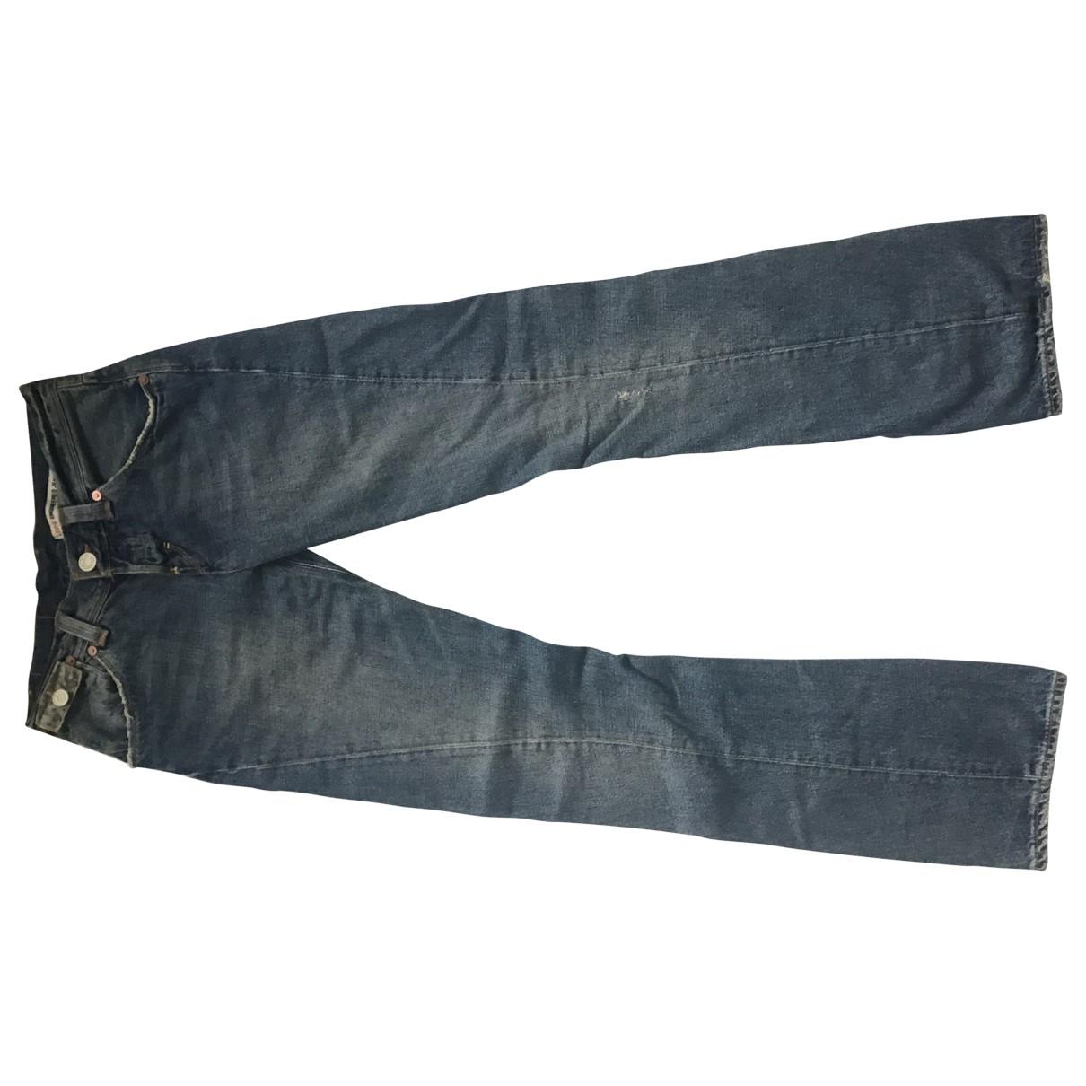 Levi's \N Blue Cotton Jeans for Women 28 US