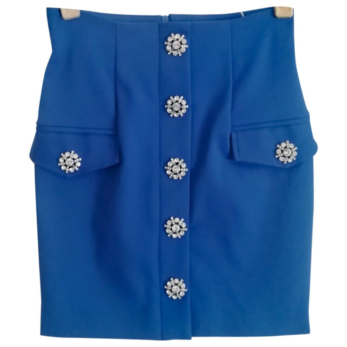 Flavio Castellani - Jupe   pour femme en coton - elasthane - bleu