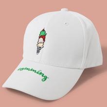 Baseball Kappe mit Buchstaben Stickereien