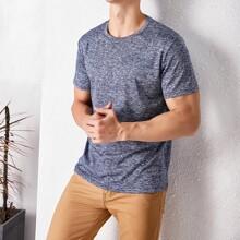 T-Shirt mit Space Dye
