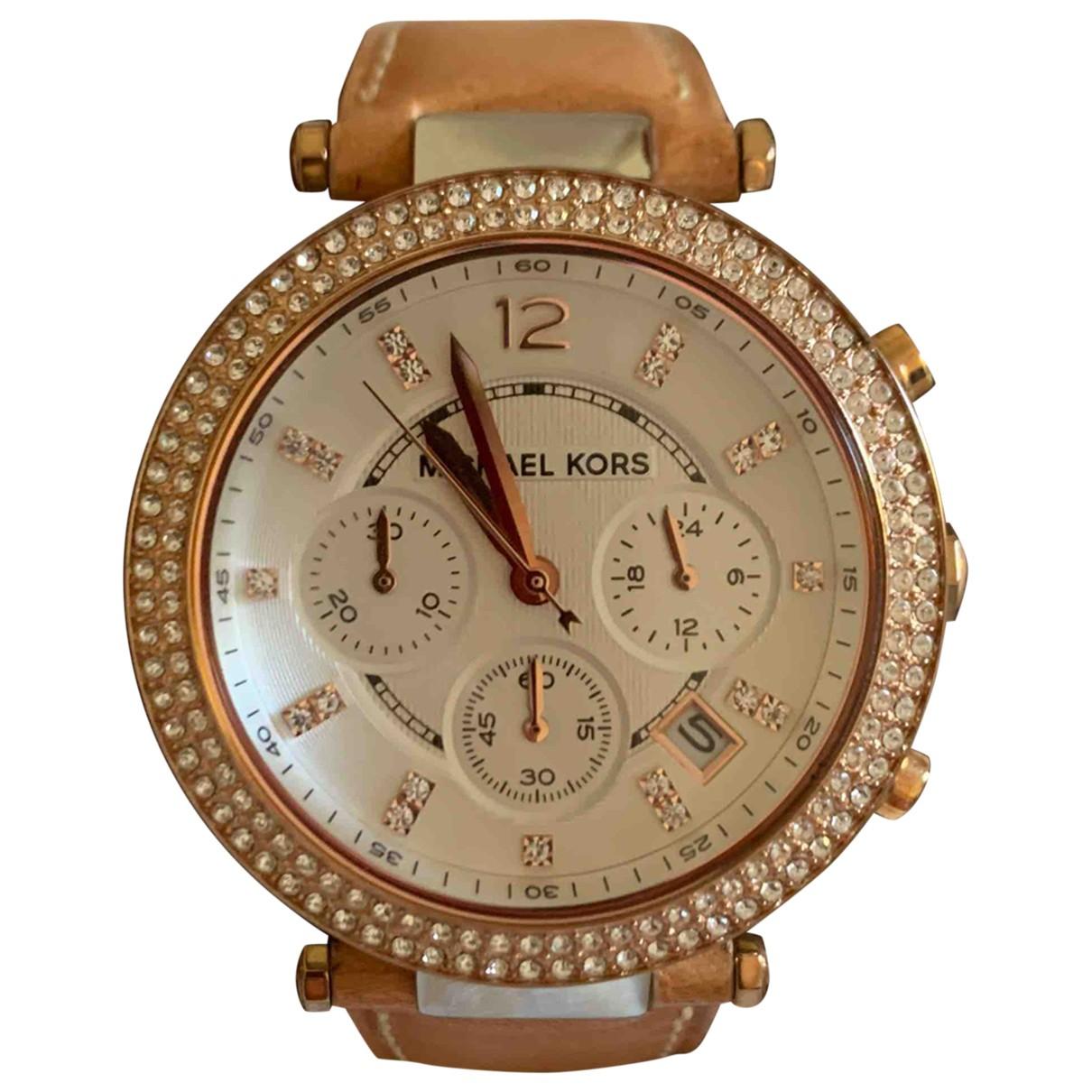 Michael Kors N Beige Steel watch for Women N
