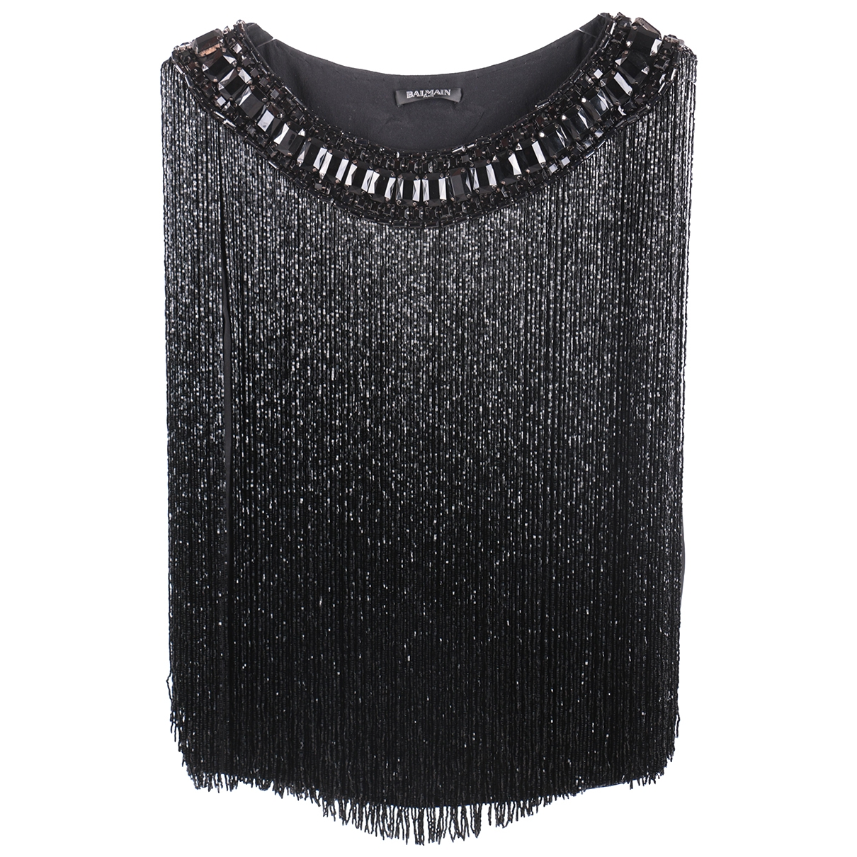 Balmain - Top   pour femme en soie - noir