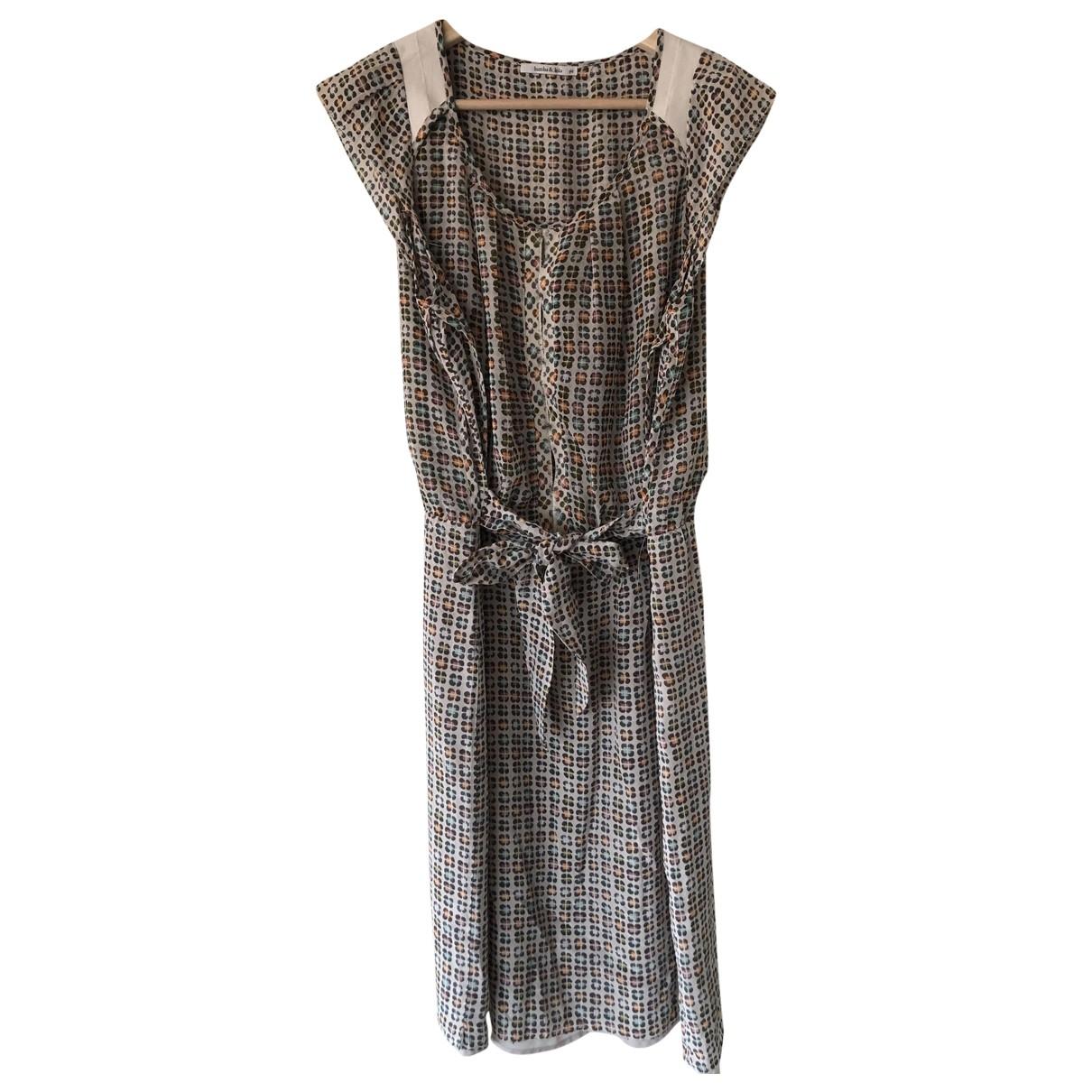 Bimba Y Lola - Robe   pour femme en soie - ecru