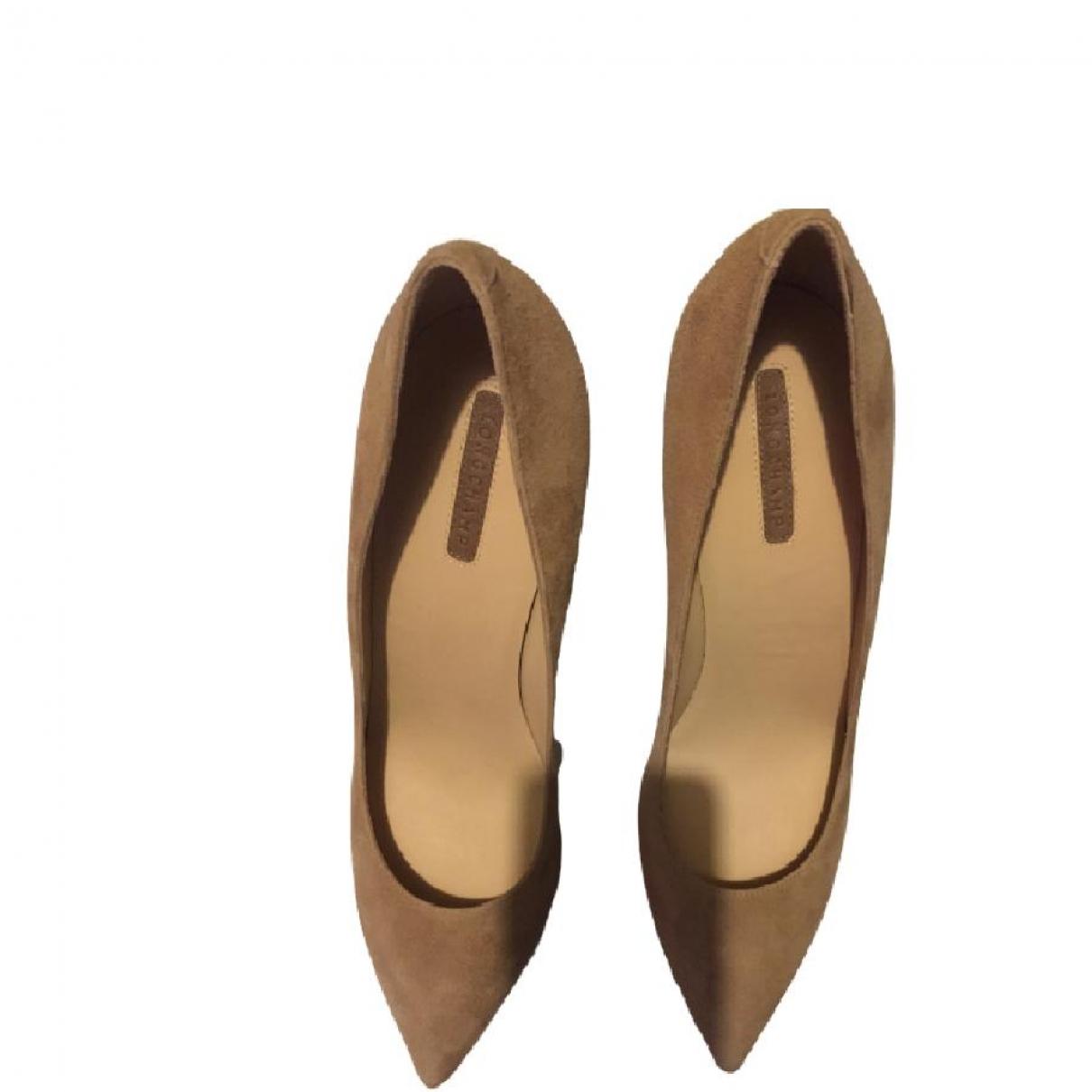 Longchamp \N Beige Velvet Heels for Women 39 EU