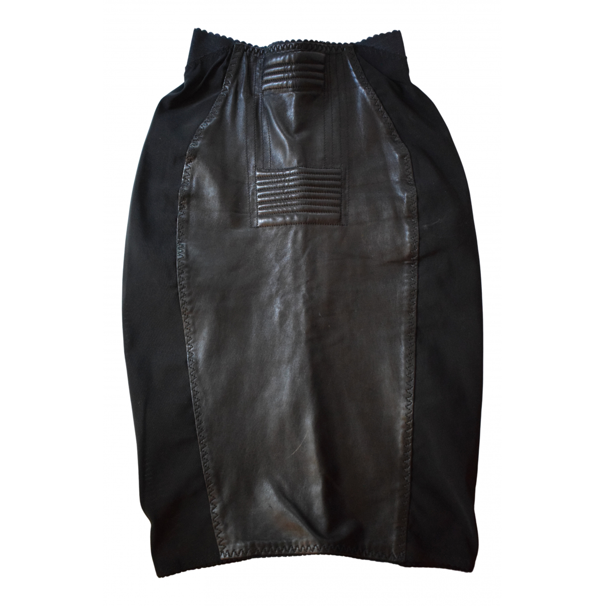 Jean Paul Gaultier N Black Leather skirt for Women 36 FR