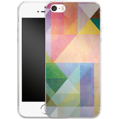Apple iPhone SE Silikon Handyhuelle - Color Blocking 1 von Mareike Bohmer