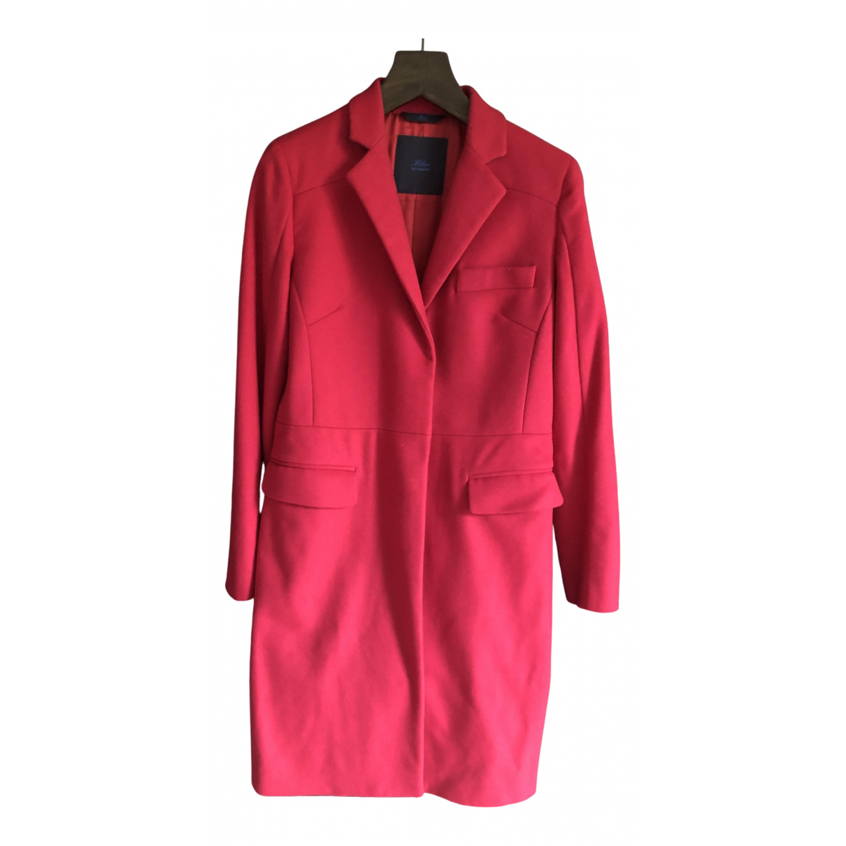 Non Signé / Unsigned N Purple Wool coat for Women 42 IT