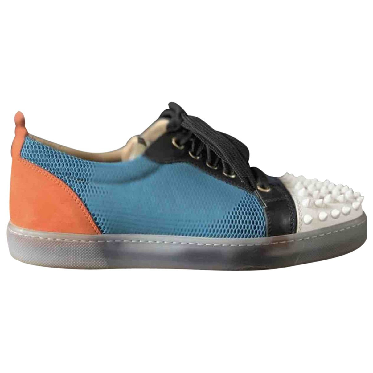 Christian Louboutin Gondolita Blue Velvet Trainers for Women 35.5 EU