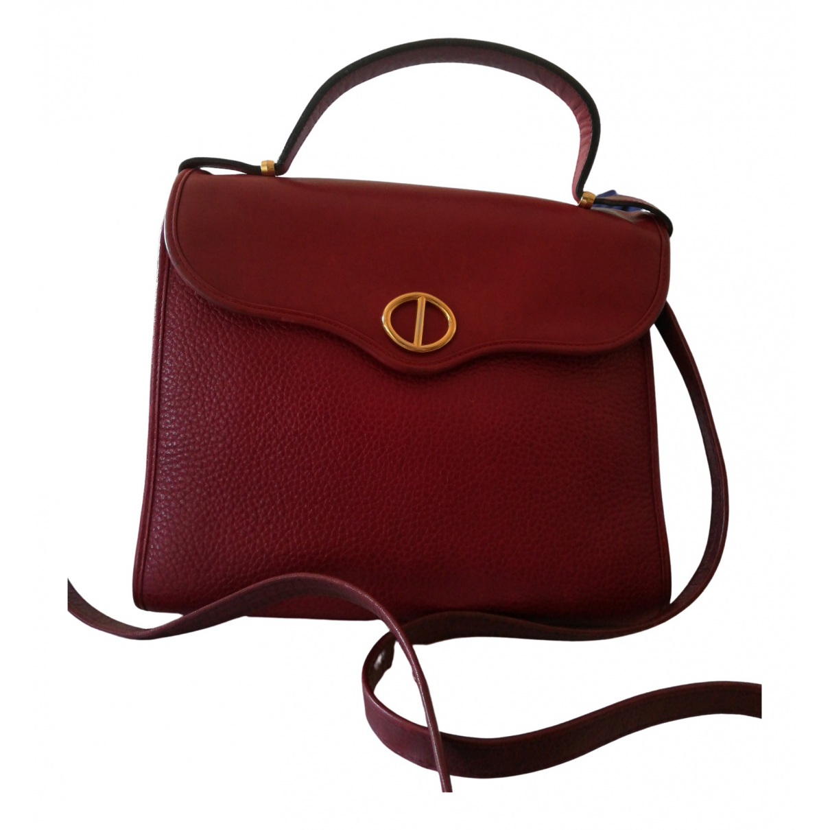 Dior \N Burgundy Leather handbag for Women \N