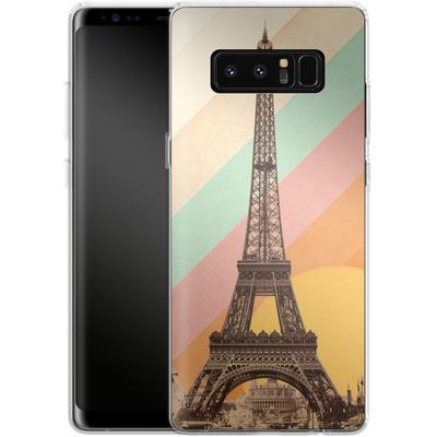 Samsung Galaxy Note 8 Silikon Handyhuelle - Eiffel Tower Rainbow von Florent Bodart