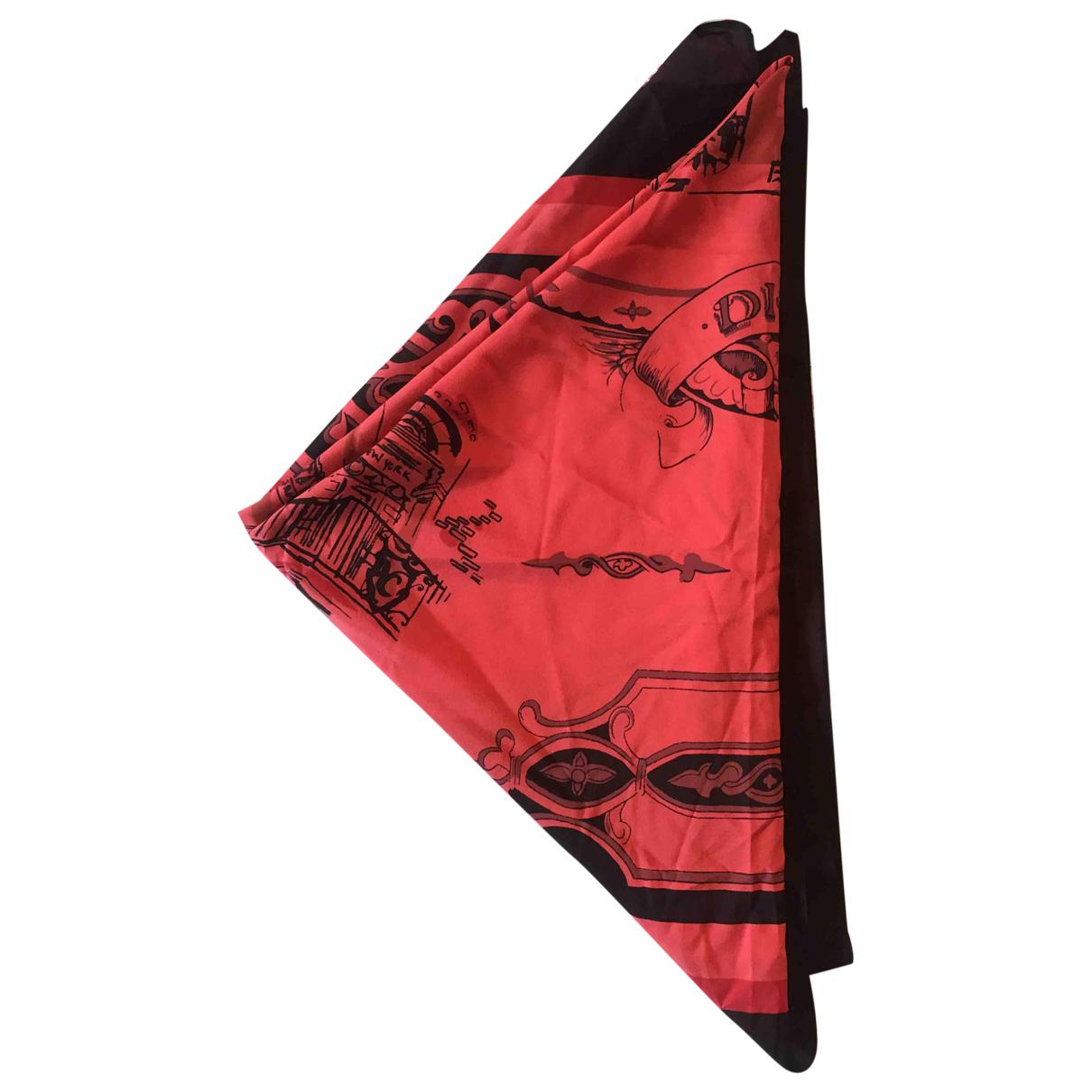 Donna Karan N Red Silk Silk handkerchief for Women N