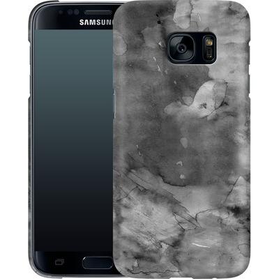 Samsung Galaxy S7 Smartphone Huelle - Black Watercolor von Emanuela Carratoni