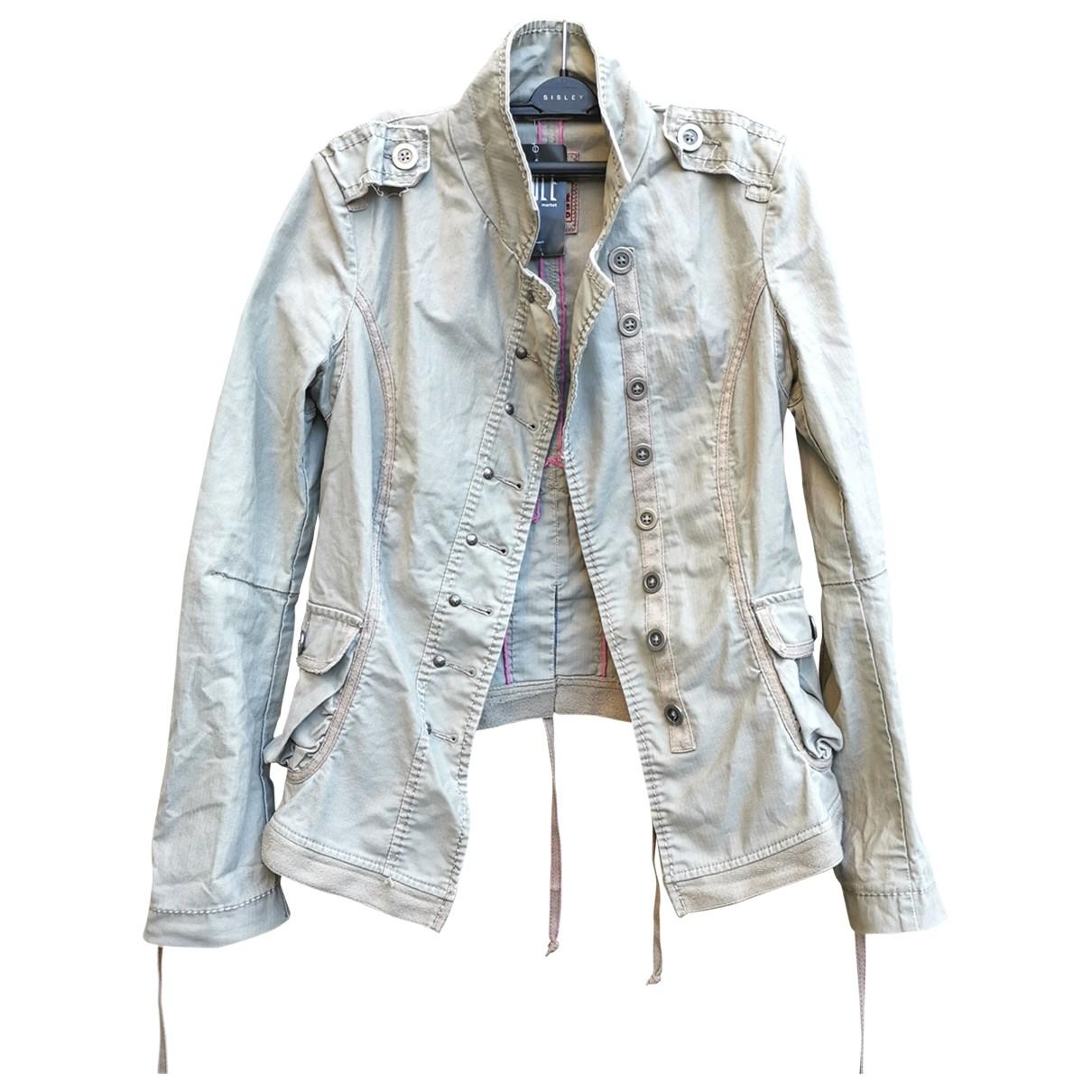 - Veste   pour femme en coton - beige