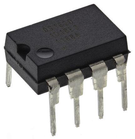 Maxim Integrated DS1620+, Temperature Sensor Switch -55 → +125 °C ±2°C SPI, 8-Pin PDIP