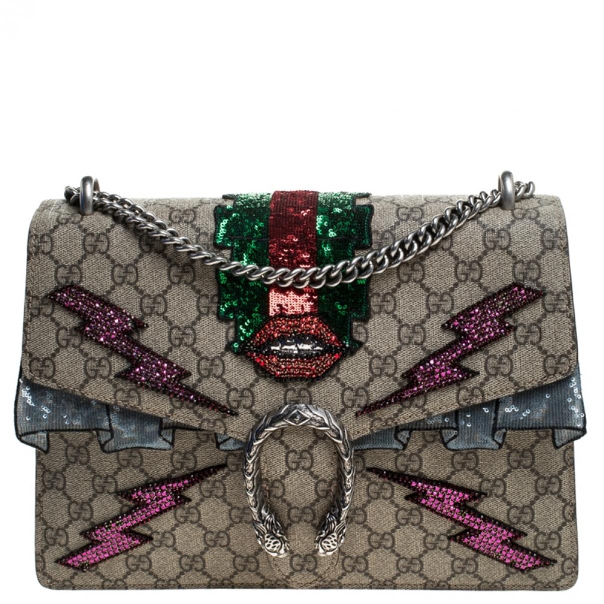 Gucci Dionysus Handtasche in  Beige Veloursleder