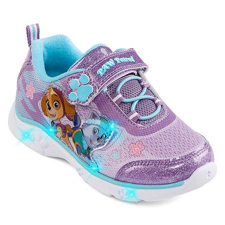 Nickelodeon Paw Patrol Athletic Toddler Girls Hook and Loop Sneakers, 9 Medium, Purple