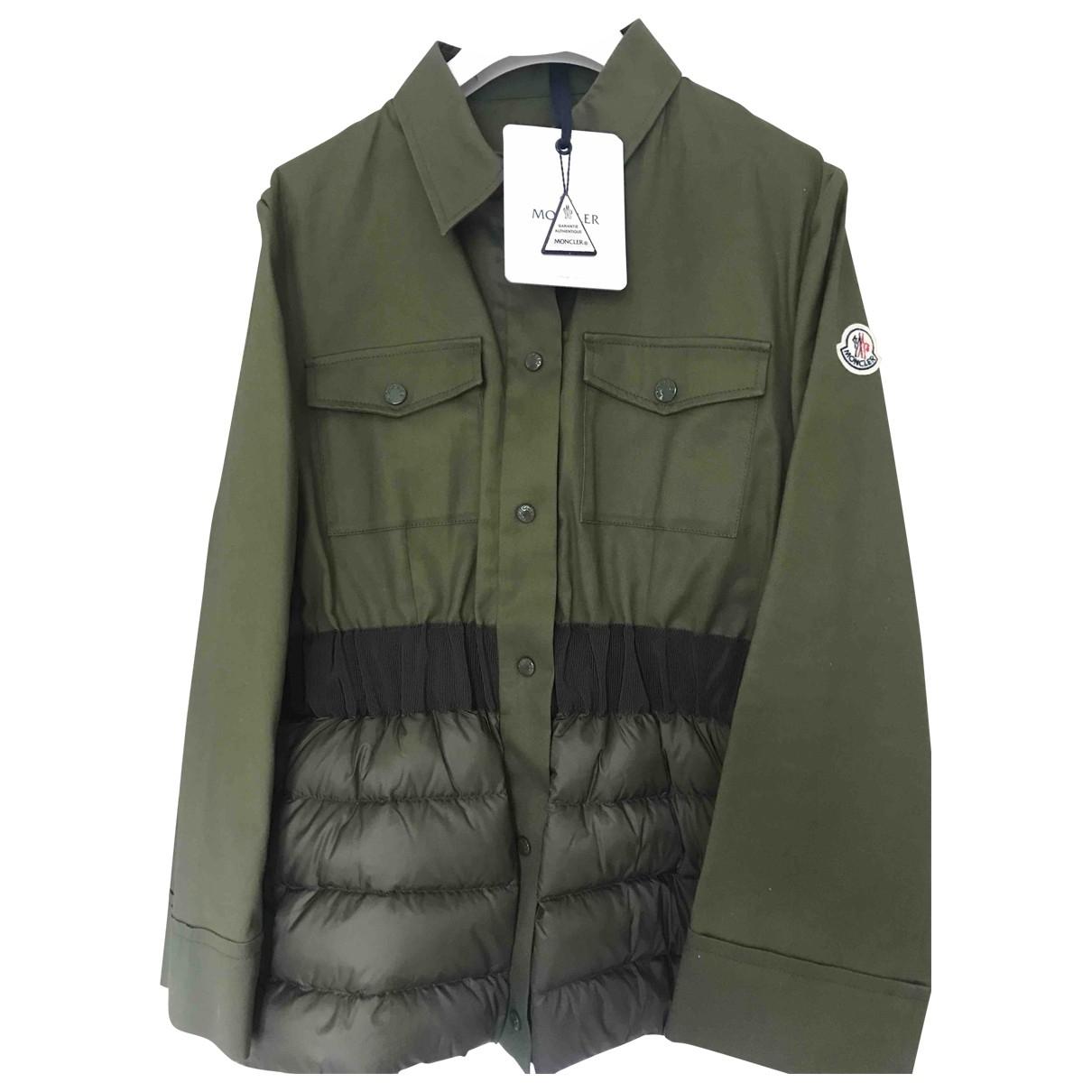 Moncler - Veste   pour femme en coton - vert