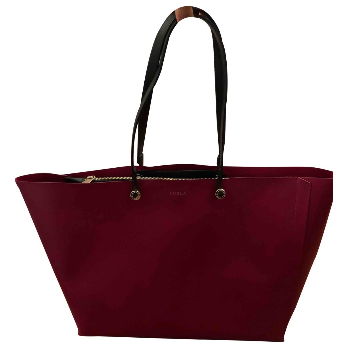 Furla \N Burgundy Leather handbag for Women \N