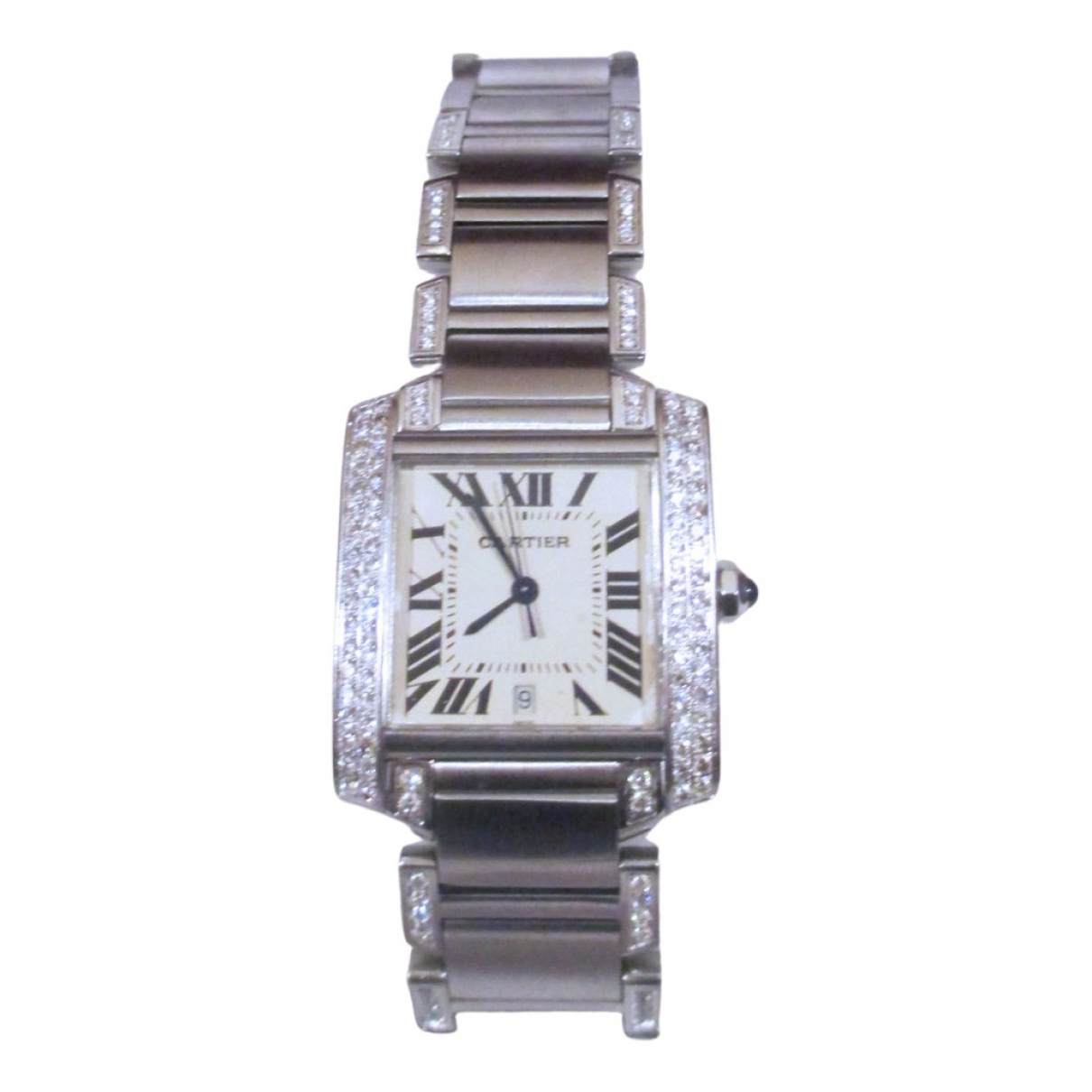 Cartier Tank Francaise Uhr in  Silber Stahl